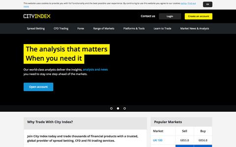City Index UK | Spread Betting, CFD & FX trading