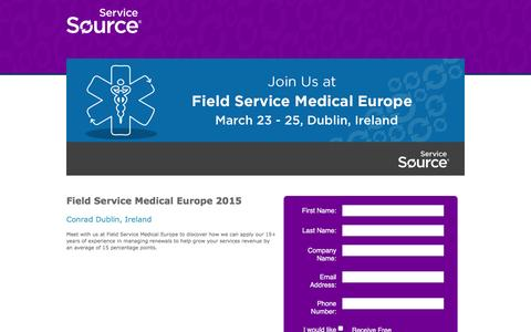 Screenshot of Landing Page servicesource.com - Recurring Revenue Summit 2015 - captured May 20, 2016