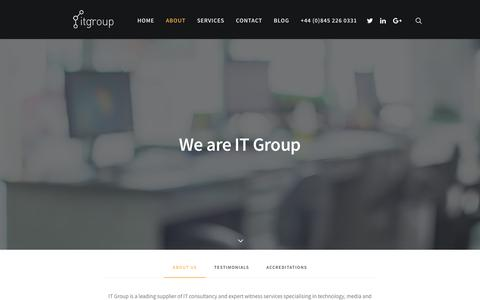 Screenshot of About Page itgroup-uk.com - About Us - Meet the Team - IT Group UK - captured Sept. 19, 2017