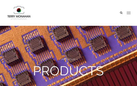 Screenshot of Products Page terry-monahan.com - PRODUCTS – Terry Monahan Photography - captured Nov. 30, 2016