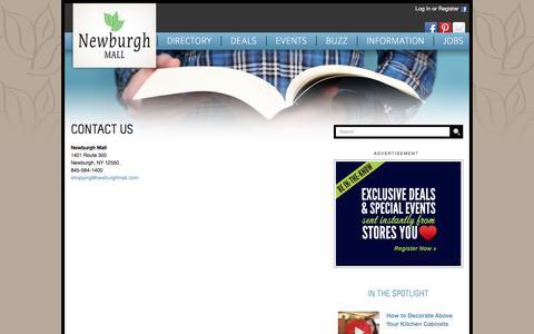 Screenshot of Contact Page newburghmall.com - Contact Us :: Newburgh Mall - captured June 9, 2016