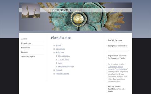 Screenshot of Site Map Page judithdevaux.fr - DEVAUX JUDITH - captured June 8, 2017