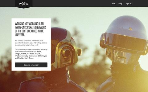 Screenshot of Trial Page workingnotworking.com - Working Not Working - captured Jan. 29, 2016