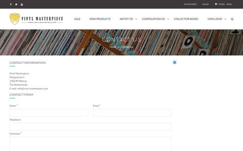 Screenshot of Contact Page vinyl-masterpiece.com - Contact Us - captured May 21, 2016
