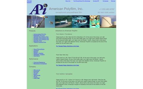 Screenshot of Maps & Directions Page apiusa.com - Directions to APi - captured Feb. 6, 2016