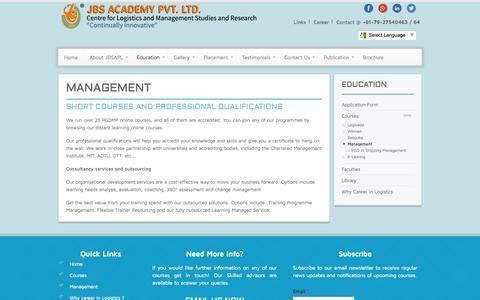 Screenshot of Team Page jbsacademy.com - Management   JBS Academy Pvt. Ltd. - captured Oct. 3, 2014