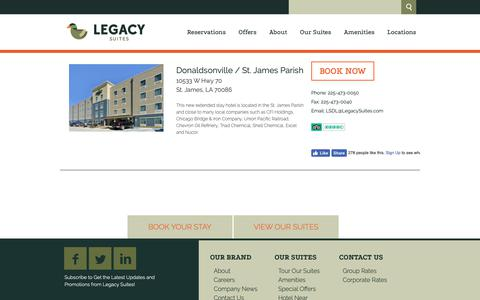 Screenshot of Locations Page legacysuites.com - Locations | Legacy Suites - captured Nov. 4, 2018