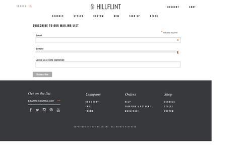 Screenshot of Signup Page hillflint.com - Test Get On The List - captured Feb. 11, 2016