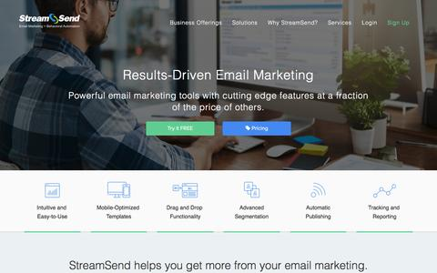 StreamSend - Email Marketing Automation | Business Solutions | Browse Abandonment | Behavioral Targeting | Content Automation