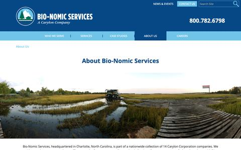 Screenshot of About Page bio-nomic.com - About Us - Bio-Nomic - captured Oct. 4, 2018