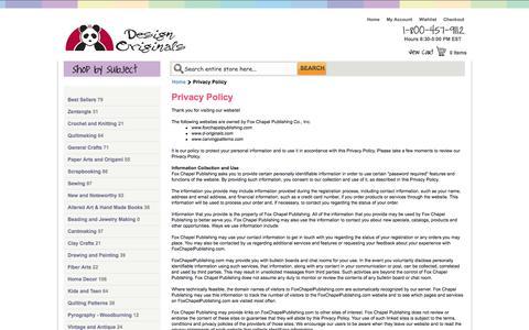 Screenshot of Privacy Page d-originals.com - Privacy Policy | Design Originals - captured Oct. 6, 2014