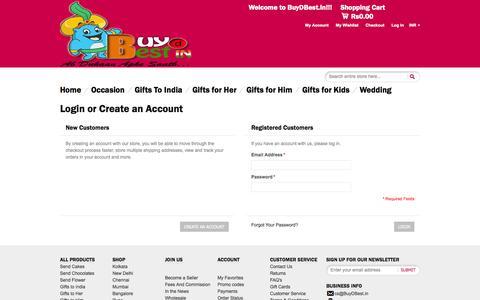 Screenshot of Login Page buydbest.in - Send Best  Customer Login - captured Sept. 30, 2014