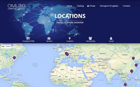 Screenshot of Locations Page omlog.com - Locations | Omlog - captured Feb. 14, 2016