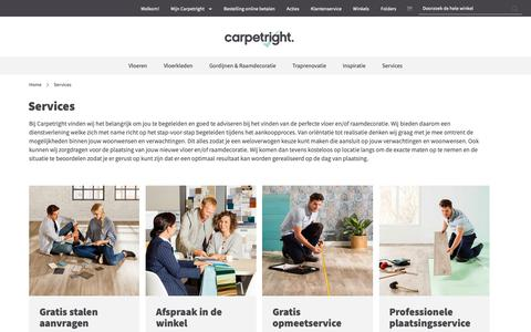 Screenshot of Services Page carpetright.nl - Services | Carpetright - captured Nov. 8, 2018
