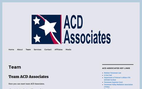 Screenshot of Team Page acdassociates.com - Team ACD Associates | Alan DeBusk | SDVOSB | Consulting | Rule 31 - captured July 23, 2016