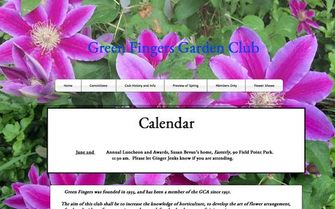 Screenshot of Home Page greenfingersgardenclub.org - greenfingersgardenclub.org - captured June 19, 2015