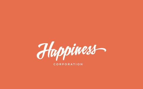 Screenshot of Home Page happiness-corp.com - Happiness Corp. - captured Dec. 7, 2015