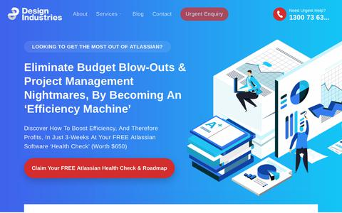 Screenshot of Home Page di.net.au - Atlassian Platinum & Gold Solution Partners   Expert Consultants - captured Oct. 8, 2018