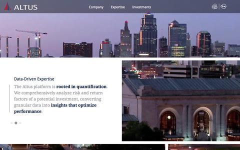 Screenshot of Home Page altusproperties.com - Altus Properties | A Real Estate Investment Firm - captured July 29, 2018