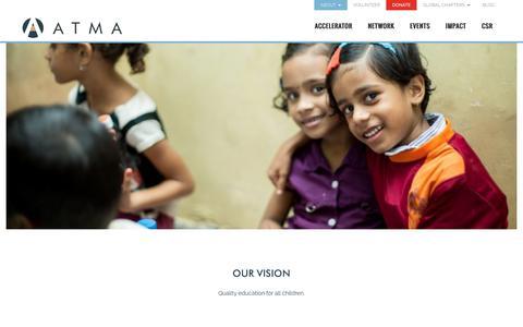 Screenshot of About Page atma.org.in - Capacity Building for NGOs, Education NGOs in Mumbai, Top NGOs in Mumbai - captured Nov. 21, 2016