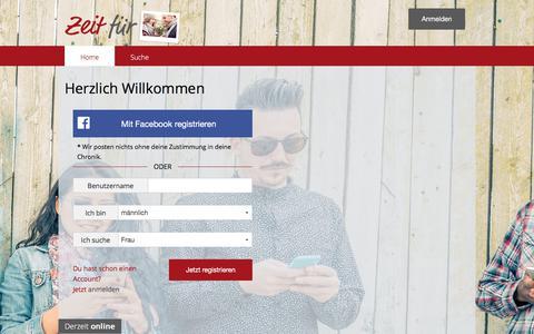 Screenshot of Home Page zeitfuer2.com - Zeit für 2 - captured June 24, 2017
