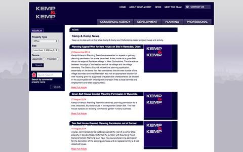 Screenshot of Press Page kempandkemp.co.uk - Kemp and Kemp Property Consultants Latest News - captured Oct. 6, 2014