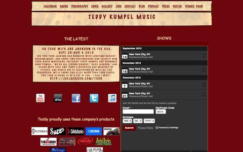 Screenshot of Home Page teddyjam.com - Welcome - captured Sept. 13, 2015