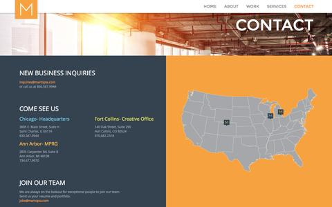 Screenshot of Contact Page martopia.com - Contact - Martopia - captured Aug. 10, 2016