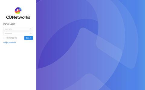 Screenshot of Login Page cdnetworks.com - CDNetworks - captured Dec. 12, 2019