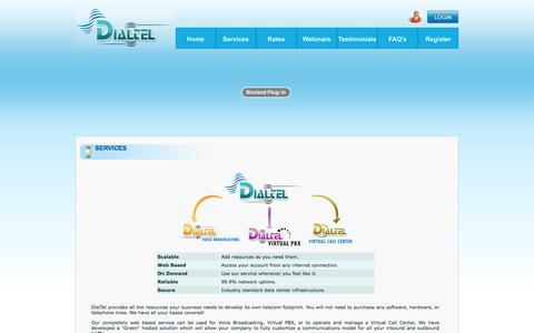 Screenshot of Services Page dialtel.com - Dialtel Services - captured Nov. 24, 2016
