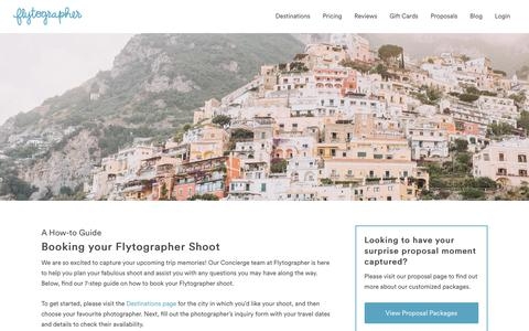 Screenshot of About Page flytographer.com - How It Works | Hire a Vacation Photographer with Flytographer - captured July 11, 2018
