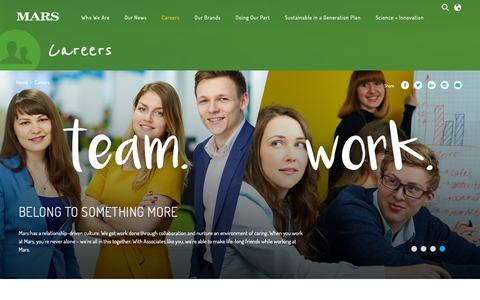 Screenshot of Jobs Page mars.com - Careers   Mars, Incorporated - captured Feb. 13, 2019