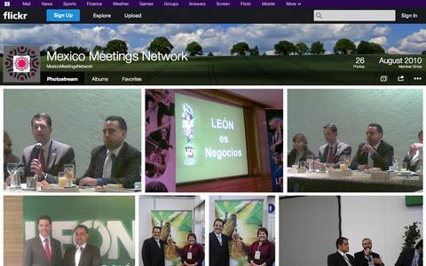 Screenshot of Flickr Page flickr.com - Flickr: MexicoMeetingsNetwork's Photostream - captured Oct. 27, 2014