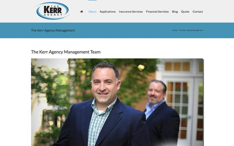 Screenshot of Team Page thekerragency.com - The Kerr Agency Management - The Kerr Agency - captured Feb. 25, 2016