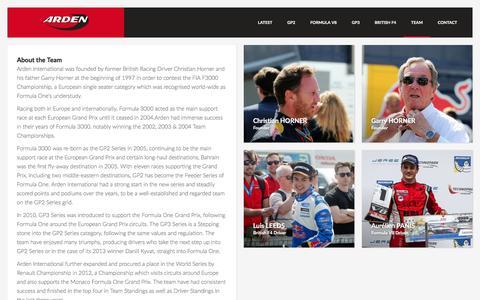 Screenshot of Team Page arden-motorsport.com - Team   Arden Motorsport - captured Dec. 2, 2016