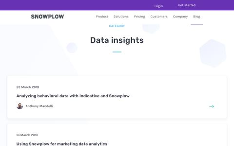 Screenshot of Blog snowplowanalytics.com - Blog – Data Insights - page 4 - captured Feb. 10, 2020