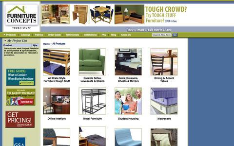 Screenshot of Products Page furnitureconcepts.com - Furniture Concepts | - captured Sept. 30, 2014