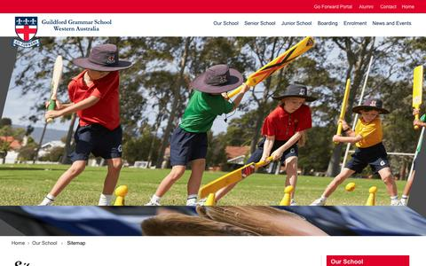 Screenshot of Site Map Page ggs.wa.edu.au - Guildford Grammar School - Guildford Grammar School - Top Co-educational private school in Western Australia - captured Sept. 30, 2018