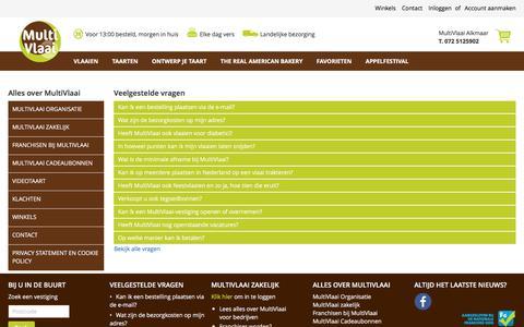 Screenshot of FAQ Page multivlaai.nl - Bekijk de meest gestelde vragen aan MultiVlaai! - captured Sept. 20, 2018