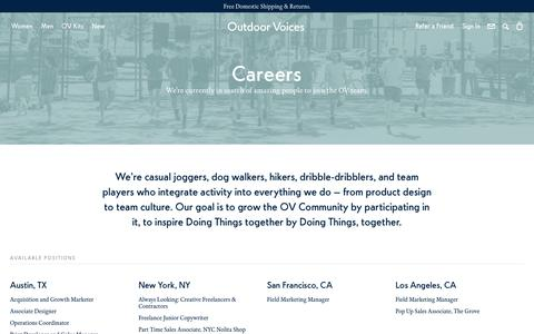 Careers – Outdoor Voices