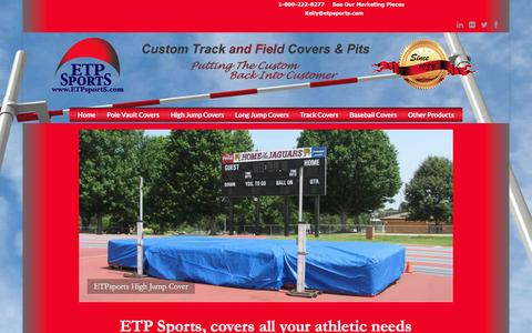 Screenshot of Home Page etpsports.com - track and field covers | ETPsports - captured April 20, 2016