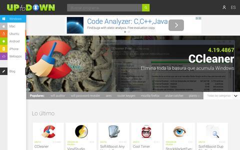 Screenshot of Developers Page uptodown.com - Uptodown.com - Contáctanos - captured Oct. 26, 2014