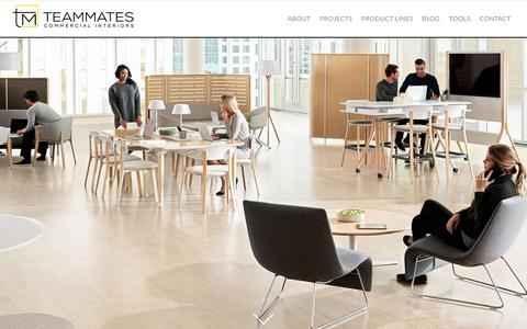 Screenshot of Home Page team-mates.com - Teammates Commercial Interiors   Commercial Office Furniture Dealer - captured Oct. 19, 2018