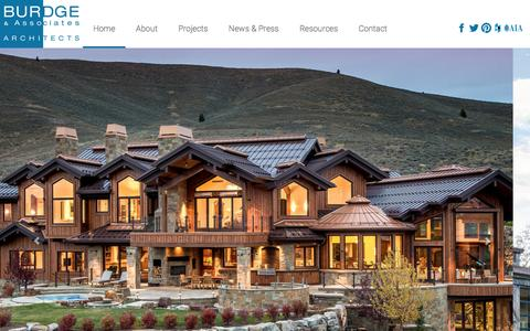 Screenshot of Home Page buaia.com - Burdge & Associates Architects - captured Feb. 8, 2016