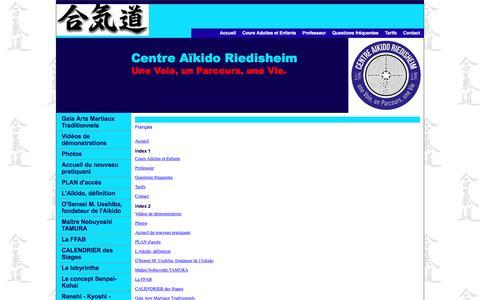 Screenshot of Site Map Page aikido-riedisheim.com - Carte du site - captured March 23, 2017