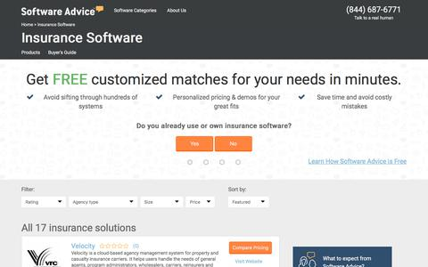 Best Insurance Software - 2017 Reviews & Pricing