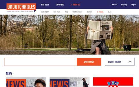Screenshot of Press Page undutchables.nl - News | Undutchables Recruitment Agency - captured Oct. 18, 2018