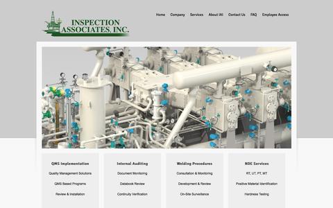 Screenshot of Home Page inspectionassoc.com - Inspection Associates, Inc - Houston, Texas - captured Oct. 6, 2014