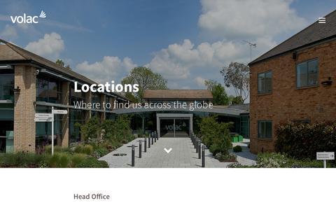 Screenshot of Locations Page volac.com - Volac: Where to find us - captured Nov. 15, 2018