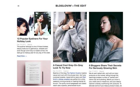 Screenshot of Blog bloglovin.com - Bloglovin'—the Edit - captured Dec. 18, 2015